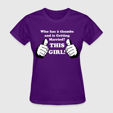 Two Thumbs Up, This Guy or Girl Custom Graphic - Women's T-Shirt