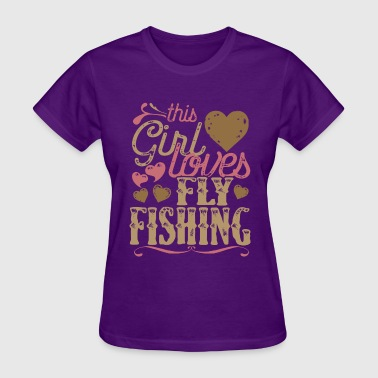 This Girl Loves Fly Fishing - Women's T-Shirt