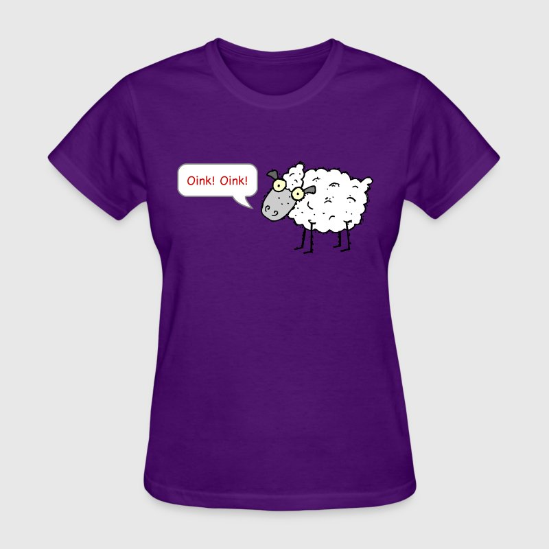 Sheep Oink! Oink! Funny T-Shirt - Women's T-Shirt