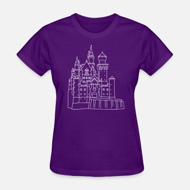 Nineteenth Century Neuschwanstein Castle - Women's T-Shirt