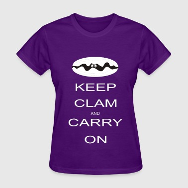 Keep clam and carry on - Women's T-Shirt