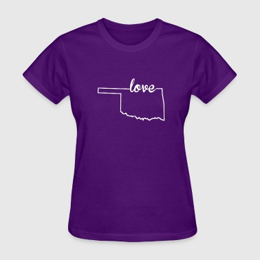 Oklahoma State Oklahoma Love State Outline - Women's T-Shirt