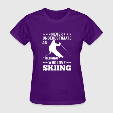 old man skiing sports present - Women's T-Shirt