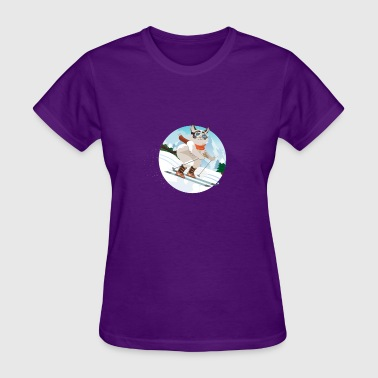 Cat in the Snow - Women's T-Shirt