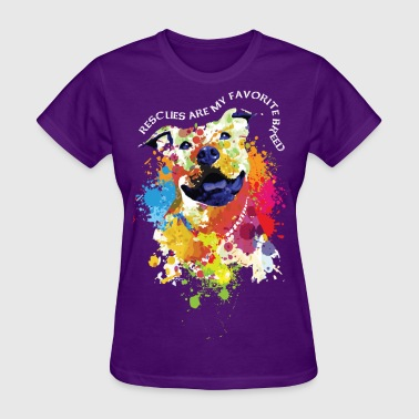 rescues are my favorite breed - Women's T-Shirt
