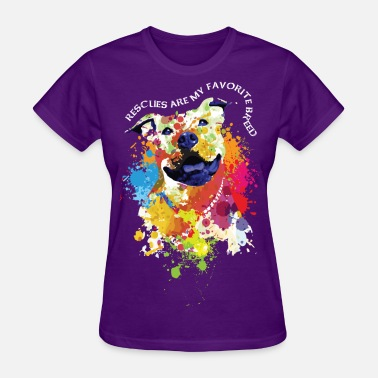 My-favorite-breed-is-rescued rescues are my favorite breed - Women's T-Shirt