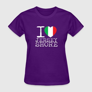 I Love Jersey Shore Italian Flag - Women's T-Shirt
