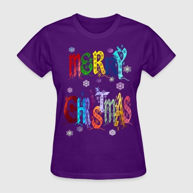 A Colorful Merry Christmas - Women's T-Shirt