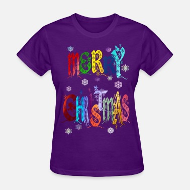 Jesus Christmas A Colorful Merry Christmas - Women's T-Shirt