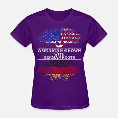 Roots American Grown With German Roots - Women's T-Shirt