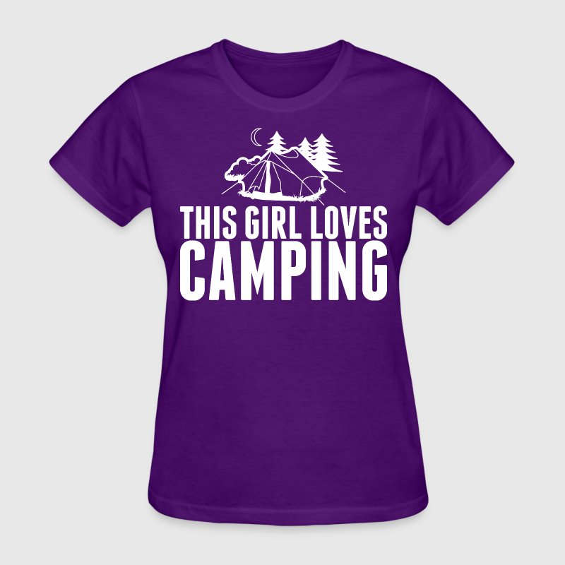 This Girl Loves Camping - Women's T-Shirt