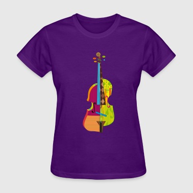 A colorful violin  - Women's T-Shirt