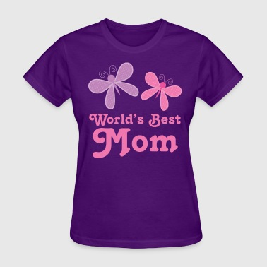 Worlds Best Mom Butterflies - Women's T-Shirt