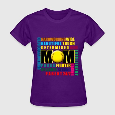 Softball Mom Adjectives  - Women's T-Shirt