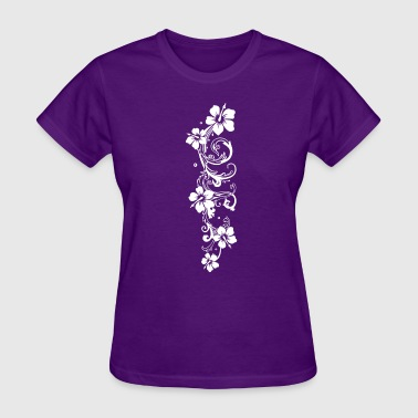 Hibiscus Flowers Tendril with hibiscus, hibiscus flowers - Women's T-Shirt