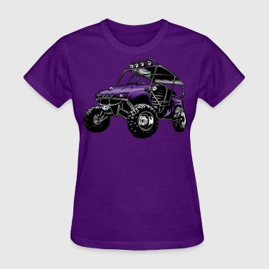 UTV side-x-side rhino, purple - Women's T-Shirt