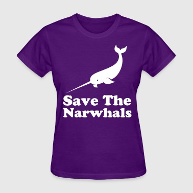 save_the_narwhals - Women's T-Shirt