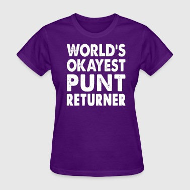 World's Okayest Punter Returner - Women's T-Shirt