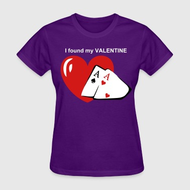 Pocket Aces Valentine Aces - Women's T-Shirt