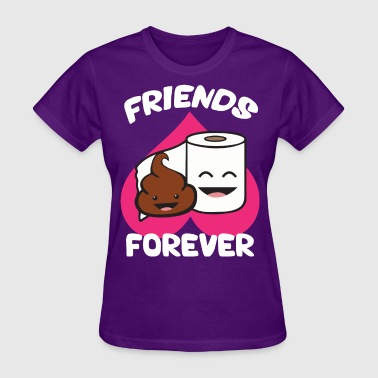 Friends Forever - Poop and Toilet Paper Roll - Women's T-Shirt
