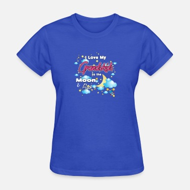 I Heart My Grandkids I Love My Grandkids to the Moon And Back - Women's T-Shirt