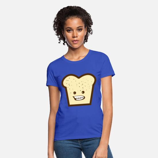 Emo T-Shirts - toast with smiling teeth - Women's T-Shirt royal blue