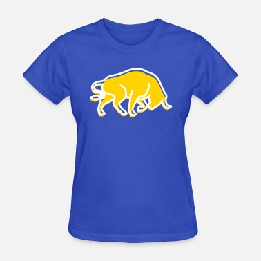Bull Pictogram A Wild Bull - Women's T-Shirt