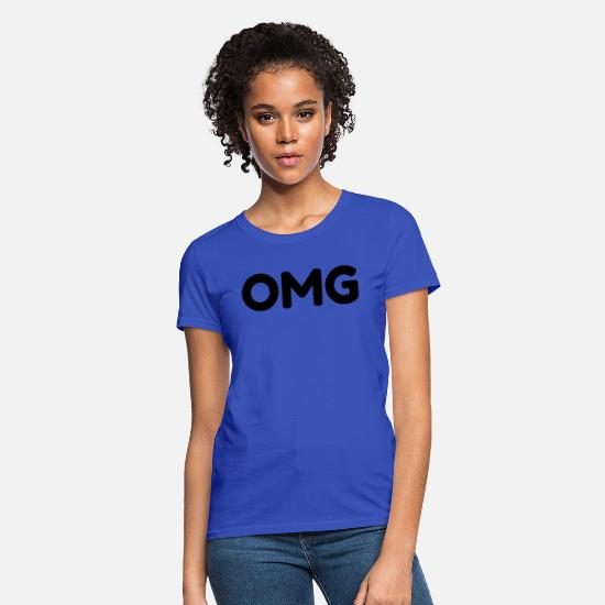 New T-Shirts - OMG - Women's T-Shirt royal blue