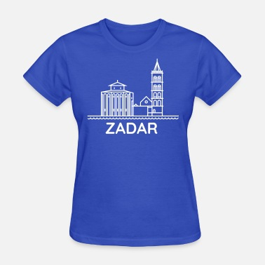 Zadar From Croatia with love - Silhouette Zadar white - Women's T-Shirt