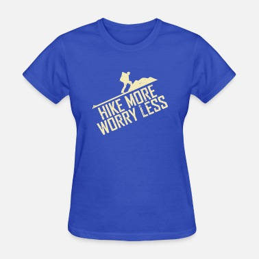 Backpacker Silhouette Backpacker Hike More Worry Less Silhouette Gift - Women's T-Shirt
