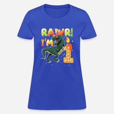 Birthday Boy Dinosaur 1st Shirt 1 Years Old Rawr I39m