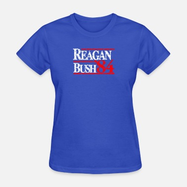 Reagan Logo Reagan Bush 84 Funny Logo - Women's T-Shirt