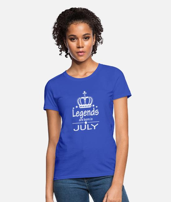 Legend T-Shirts - Legends Are Born in July Queen Birthday Gift - Women's T-Shirt royal blue