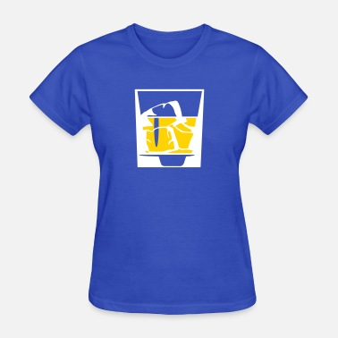J Crown Tumbler Of Whiskey And Ice Cubes - Women's T-Shirt
