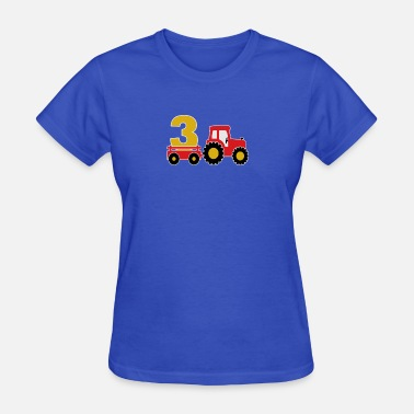 3 Year Old 3 years old and truck - Women's T-Shirt