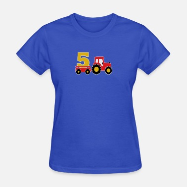 5 Year Old 5 years old and truck - Women's T-Shirt