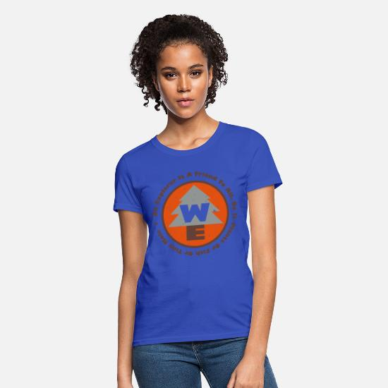 Wilderness T-Shirts - Wilderness Explorers Badge - Women's T-Shirt royal blue