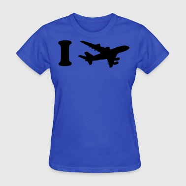 i heart fly plane  - Women's T-Shirt