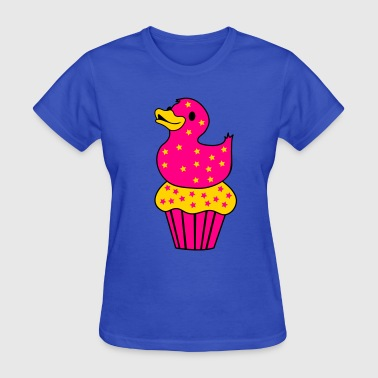 rubber duckie on a cupcake - Women's T-Shirt