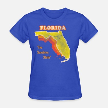 Florida-sunshine-state-states florida, the sunshine state retro design - Women's T-Shirt