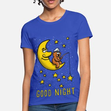 Teddy Bear moon and star fishig teddy bear - Women's T-Shirt