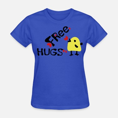 Birds Line Art Free Free hugs yellow bird 3 - Women's T-Shirt