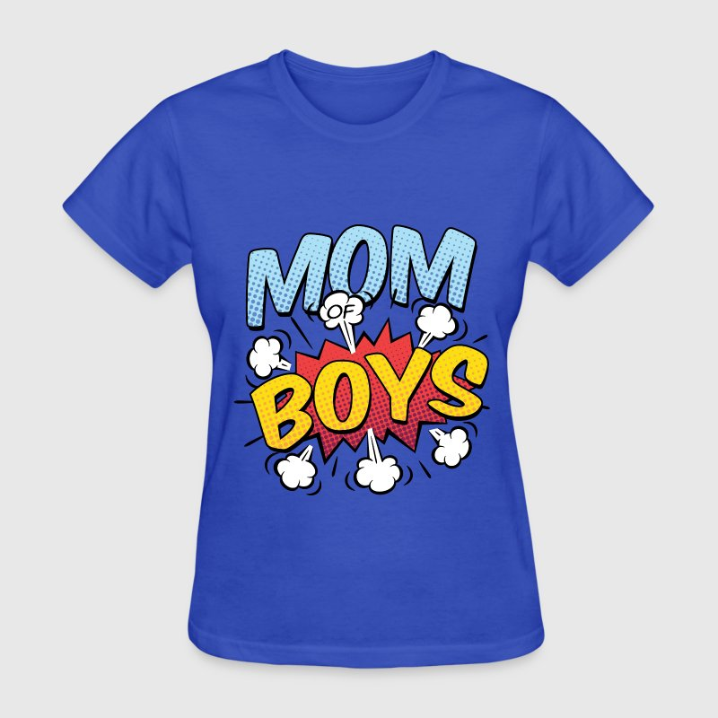 Mom of Boys Comic Style - Women's T-Shirt