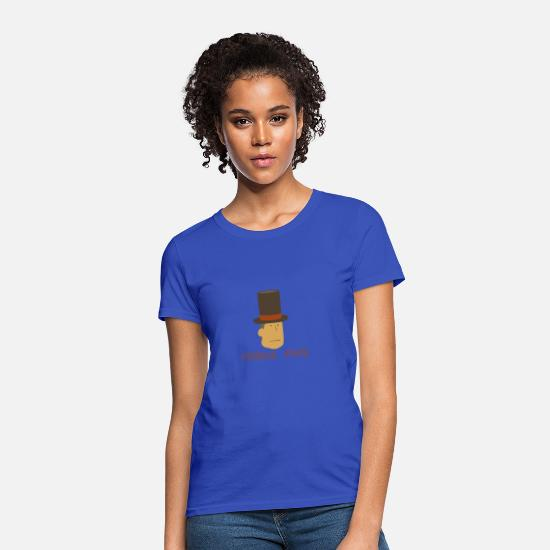 Face T-Shirts - Professor Layton Puzzle Face - Women's T-Shirt royal blue