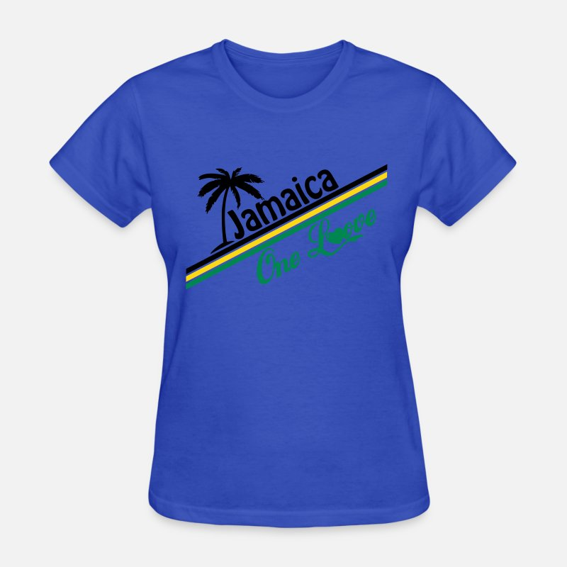 Reggae Roots Dance Hall Ragga Dub Jamaica T-Shirts - jamaica one love - Women's T-Shirt royal blue