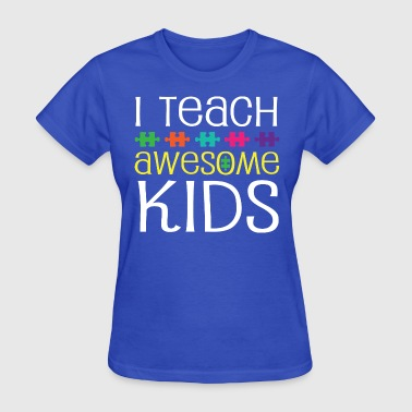 Autism Teacher Awareness Support - Women's T-Shirt
