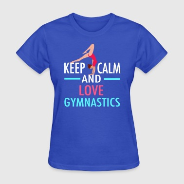 Keep Calm Love Gymnastics - Women's T-Shirt