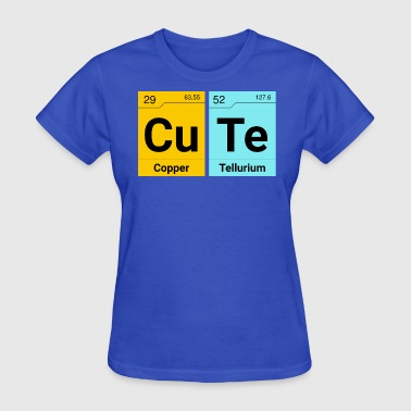 Cute Scrabble wording periodic table elements - Women's T-Shirt