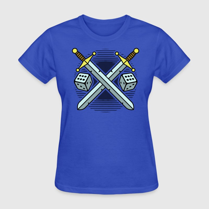 crossed swords and dice - Women's T-Shirt