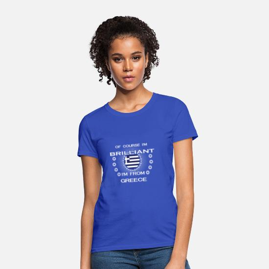 Greece T-Shirts - I AM GENIUS CLEVER BRILLIANT GREECE - Women's T-Shirt royal blue
